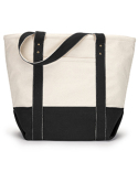 1211 Gemline Seaside Zippered Cotton Tote