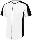1655 Augusta Sportswear Adult Full-Button Baseball Jersey