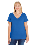 3807 LAT Ladies' Curvy V-Neck T-Shirt