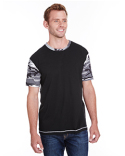 3908 Code Five Adult Fashion Camo Ringer T-Shirt