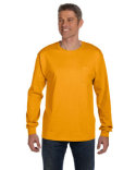 5596 Hanes Men's 6 oz. Authentic-T Long-Sleeve Pocket T-Shirt