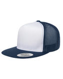 6006W Yupoong Adult Classic Trucker with White Front Panel Cap