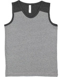 6119 LAT Youth Contrast Back Tank