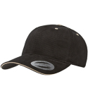 6262S Yupoong Adult Brushed Cotton Twill 6-Panel Mid-Profile Sandwich Cap