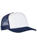 6320W Yupoong Adult Classics Curved Visor Foam Trucker Cap - White Front Panel