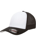 6511W Yupoong Flexfit Trucker Mesh with White Front Panels Cap