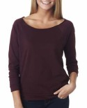 6951 Next Level Ladies' French Terry 3/4-Sleeve Raglan