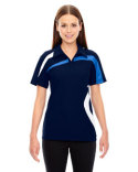 78645 North End Ladies' Impact Performance Polyester Piqué Colorblock Polo