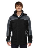 88052 North End Adult 3-in-1 Seam-Sealed Mid-Length Jacket with Piping