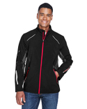 88678 North End Men's Pursuit Three-Layer Light Bonded Hybrid Soft Shell Jacket with Laser Perforation