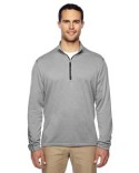 A274 adidas Golf Men's Heather 3-Stripes Quarter-Zip Layering