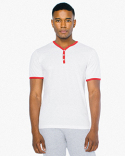 ABB471W American Apparel Unisex Poly-Cotton V-Neck Henley