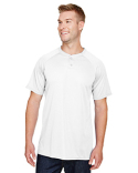 AG1565 Augusta Sportswear Adult Attain 2-Button Baseball Jersey