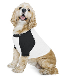 BB953W American Apparel Poly-Cotton 3/4-Sleeve Raglan Dog T-Shirt