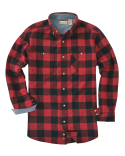 BP7040 Backpacker Men's Yarn-Dyed Long-Sleeve Brushed Flannel