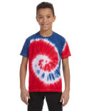 CD100Y Tie-Dye Youth 5.4 oz. 100% Cotton T-Shirt