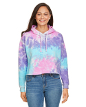 CD8333 Tie-Dye Ladies' Cropped Hooded Sweatshirt