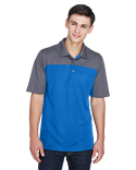 CE101 Core 365 Men's Balance Colorblock Performance Piqué Polo