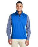 CE709 Ash City - Core 365 Men's Techno Lite Three-Layer Knit Tech-Shell Quarter-Zip Vest