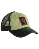 DI3002 Dri Duck Waxy Cotton Trucker Buck Icon Cap