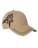 DI3323 Dri Duck 3D Horse Soft Structured Mid-Profile Hat