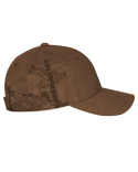 DI3345 Dri Duck 100% Cotton Structured Mid-Profile Hat