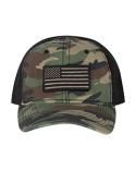 DI3353 Dri Duck 100% Cotton Unstructured Camo Hat