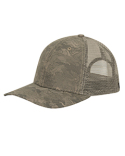 DI3458 Dri Duck Structured Mid Profile Camo Print Trucker Hat