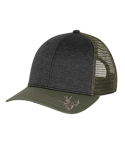 DI3459 Dri Duck Structured Mid Profile Heather Trucker Hat