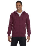 EC5680 econscious Men's Organic/Recycled Heathered Full-Zip Hooded Sweatshirt