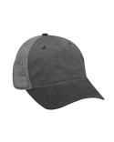 EN102 Adams Pigment-Dyed Twill & Mesh 5 Panel Trucker Cap