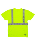 HVK012 Berne Men's Hi-Vis Class 2 Performance Pocket T-Shirt