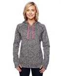 JA8616 J America Ladies' Cosmic Contrast Fleece Hood