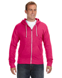 JA8872 J America Adult Triblend Full-Zip Fleece Hood