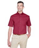 M500S Harriton Men's Easy Blend™ Short-Sleeve Twill Shirt with Stain-Release