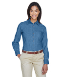 M550W Harriton Ladies' 6.5 oz. Long-Sleeve Denim Shirt