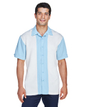 M575 Harriton Men's Two-Tone Camp Shirt