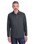 M709 Harriton Adult StainBloc™ Pique Fleece Pullover Jacket