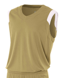 N2340 A4 Adult Moisture Management V Neck Muscle Shirt