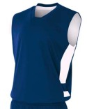 N2349 A4 Adult Reversible Speedway Muscle Shirt