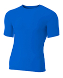 N3130 A4 Adult Polyester Spandex Short Sleeve Compression T-Shirt