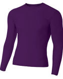 N3133 A4 Adult Polyester Spandex Long Sleeve Compression T-Shirt