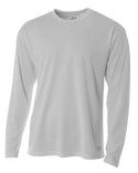 N3253 A4 Men's Birds-Eye Mesh Long Sleeve T-Shirt