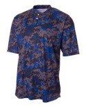 N3263 A4 Camo 2-Button Henley Shirt