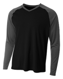 N3374 A4 Men's Long Sleeve Strike Raglan T-Shirt