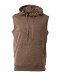 N4002 A4 Men's Agility Sleeveless Tech Fleece Pullover Hooded Sweatshirt