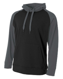 N4234 A4 Men's Color Block Tech Fleece Hoodie