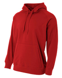 N4237 A4 Men's Solid Tech Fleece Hoodie