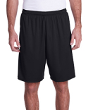 N5005 A4 Men's Color Block Pocketed Short