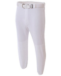 N6195 A4 Adult Double Play Polyester Baseball Pant with Elastic Waist and Belt Loops
